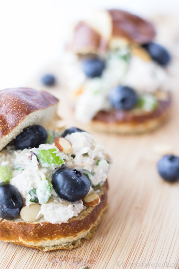 Blueberry Almond Tarragon Chicken Salad - How to Love Cooking