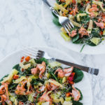 Baked Salmon Salad with Citrus Mint Vinaigrette
