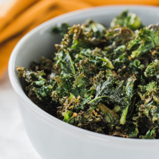 Parmesan Baked Kale - How to Love Cooking