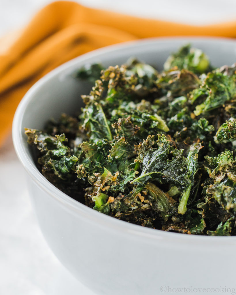 Baked Kale with Parmesan