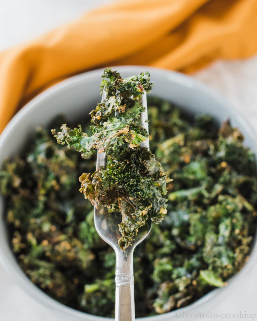 Baked Parmesan Kale - How to Love Cooking