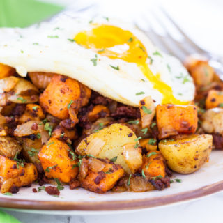 Sweet Potato Chorizo Breakfast Hash - How to Love Cooking