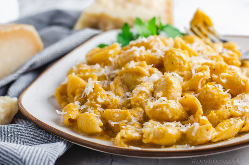 Pumpkin Parmesan Pasta - How to Love Cooking