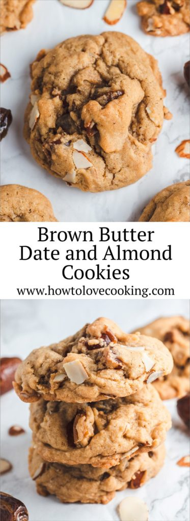 Chewy and delicious! Brown Butter Date and Almond Cookies