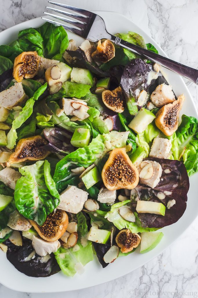 Fall Harvest Salad with Creamy Honey Mustard Dressing - How to Love Cooking