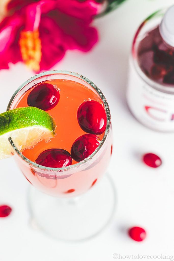 Cranberry Hibiscus Mocktail made with Element Shrub